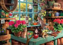 Jacriah Jigsaw Puzzles - Cat Puzzle Collection - 1000 Piece for Adults Kids Intellectual and Educational Brain IQ Developing Puzzle Games (Windowsill Cat)