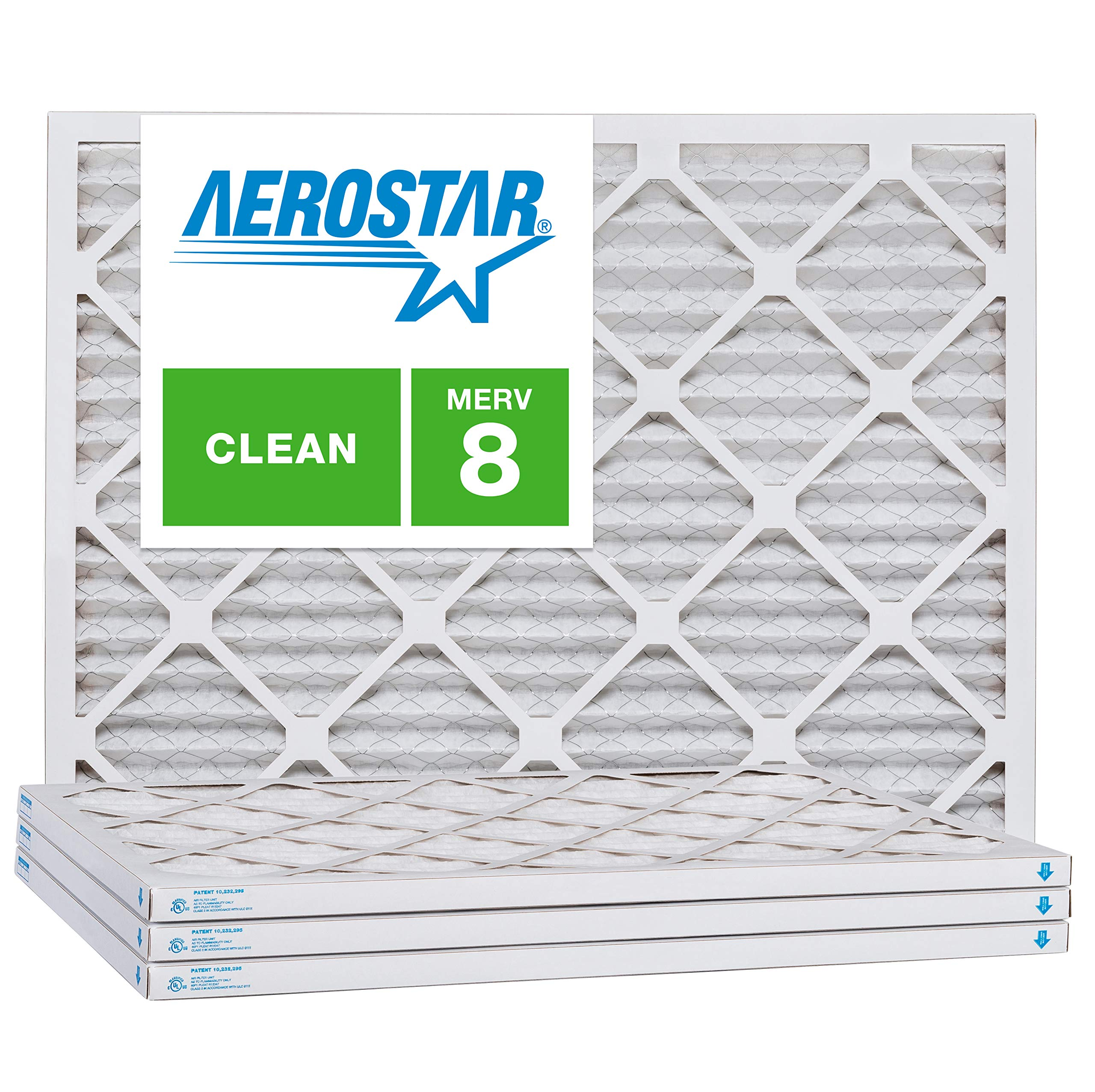 Aerostar 6x10x1 MERV 8, Pleated Air Filter, 6x10x1, Box of 4, Made in The USA