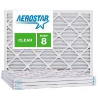 Aerostar 21 1/4x23 1/4x1 MERV 8, Pleated Air Filter, 21 1/4 x 23 1/4 x 1, Box of 4, Made in The USA