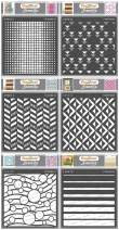 CrafTreat Geometric Stencils for Painting on Wood, Wall, Tile, Canvas, Paper, Fabric and Floor - Geometric Designs Bundle - 6 Pcs - 6x6 Inches each - Reusable DIY Art and Craft Stencils Set