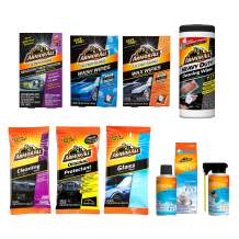 Armor All Car Wash and Cleaner Kit (9 Items) - Includes Glass and Cleaning Wipes & Air Freshener, 19120