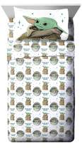 Star Wars The Mandalorian Curious Child Twin Sheet Set - 3 Piece Set Super Soft and Cozy Kid's Bedding Features The Child Baby Yoda - Fade Resistant Microfiber Sheets (Official Star Wars Product)