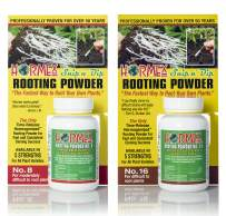 Hormex Rooting Hormone Powder #8 & 16 | for Moderately Difficult to Difficult to Root Woody Plants | Fastest IBA Rooting Powder Compound for Strong & Healthy Roots (2 Bottles)