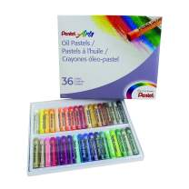 Pentel Arts Oil Pastel Set, 5/16 x 2-7/16 Inch, Assorted Colors, Set of 36