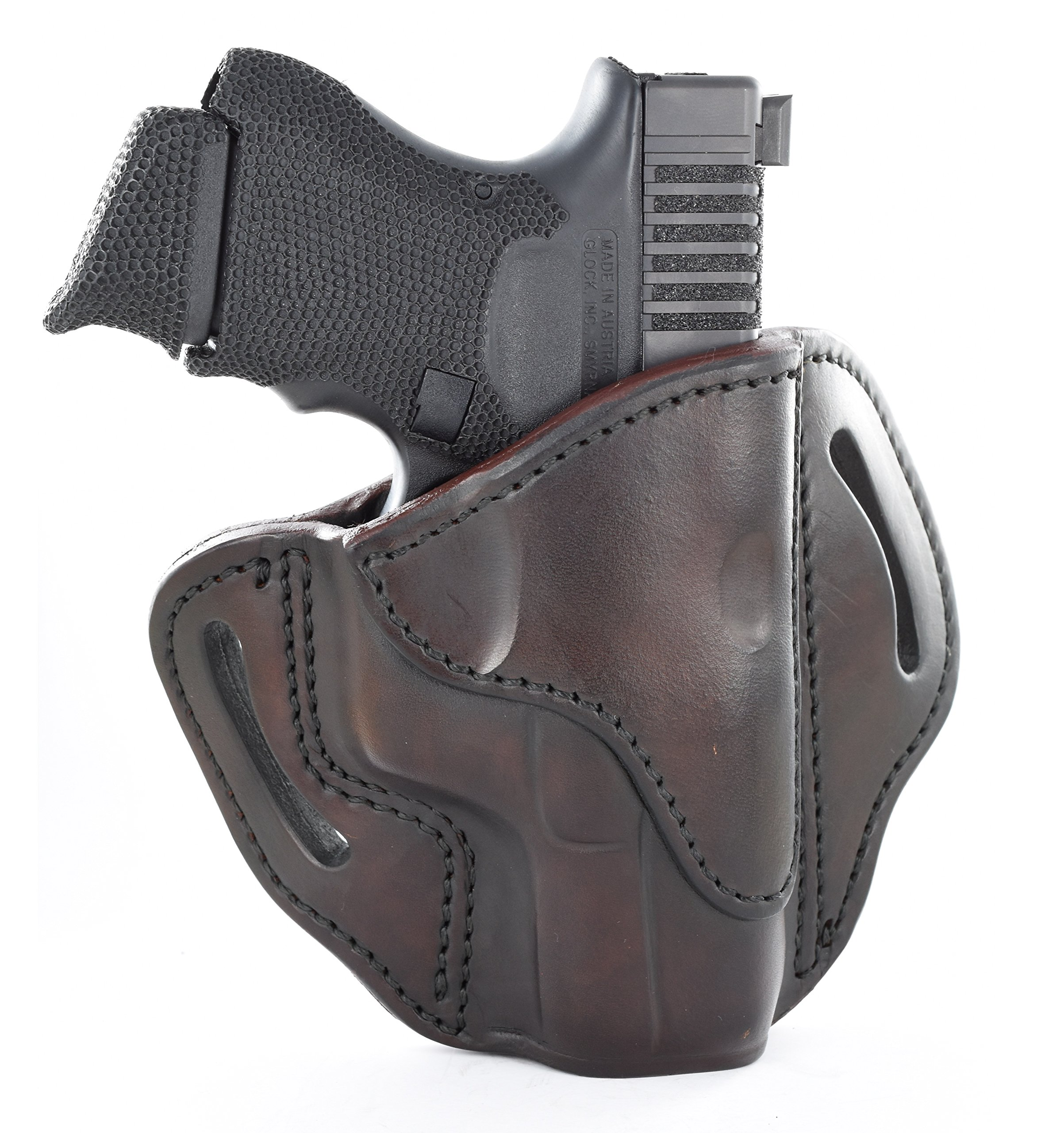 1791 GUNLEATHER Glock 19 Holster - Right Hand OWB G19 Leather Holster for Belts - Fits Glock 19, 23, 26, 27, H&K VP40 and Springfield XDS
