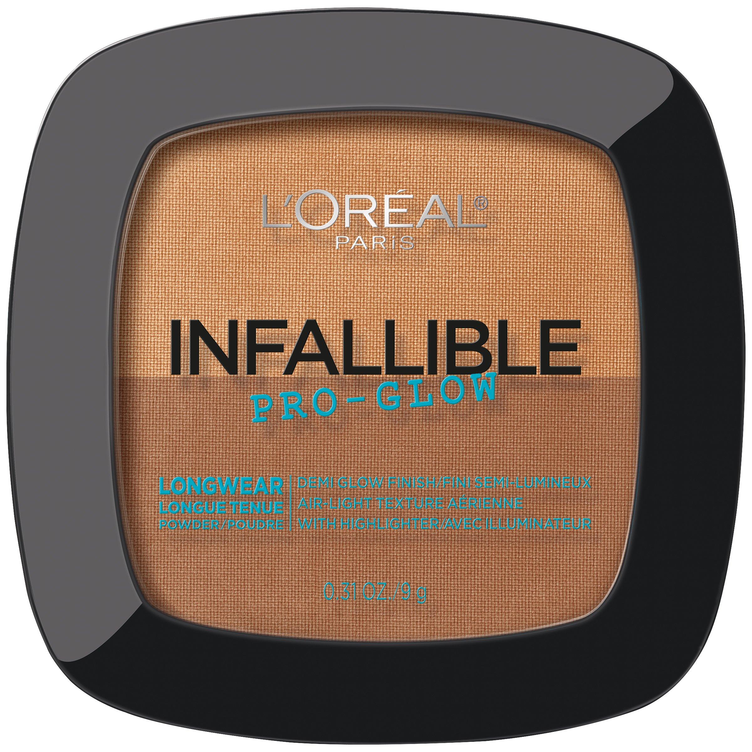 L'Oréal Paris Infallible Pro Glow Pressed Powder, Cocoa, 0.31 oz.