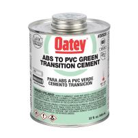 Oatey 30926 Medium Bodied Transition Solvent Cement, 32 Oz, Can, Liquid, green