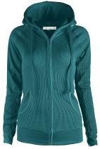 TOP LEGGING Women's Active Casual Zip Up Hoodie Jacket, Lightweight Thin Junior Plus Sweater