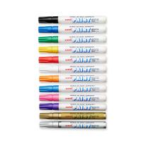 Uni-Paint Markers, Medium Point, Assorted Colors, 12-Count
