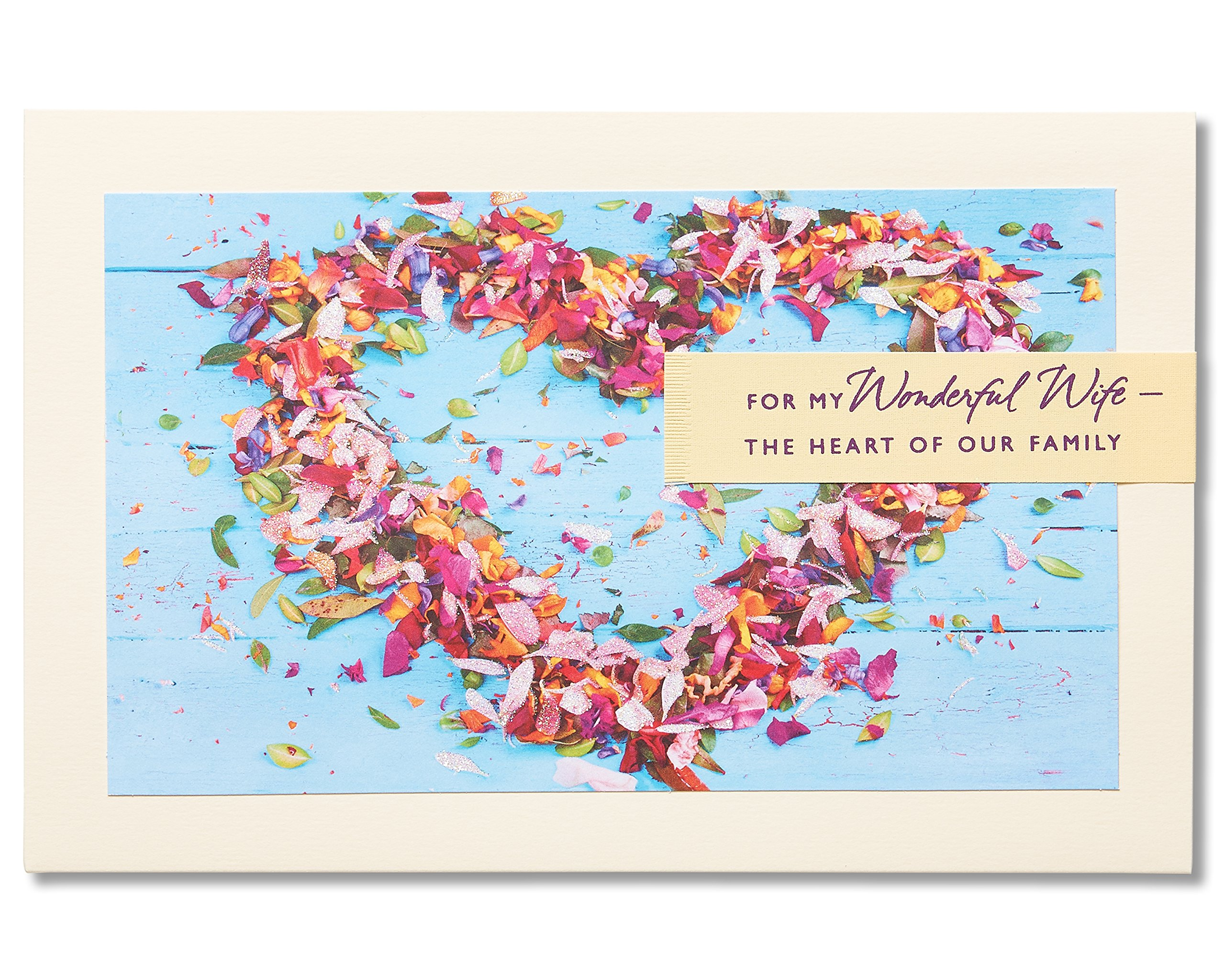 American Greetings Heart of Our Family Sentimental Mother's Day Card for Wife with Glitter