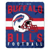 """Officially Licensed NFL """"Singular"""" Fleece Throw Blanket, Blue, 50"""" x 60"""""""