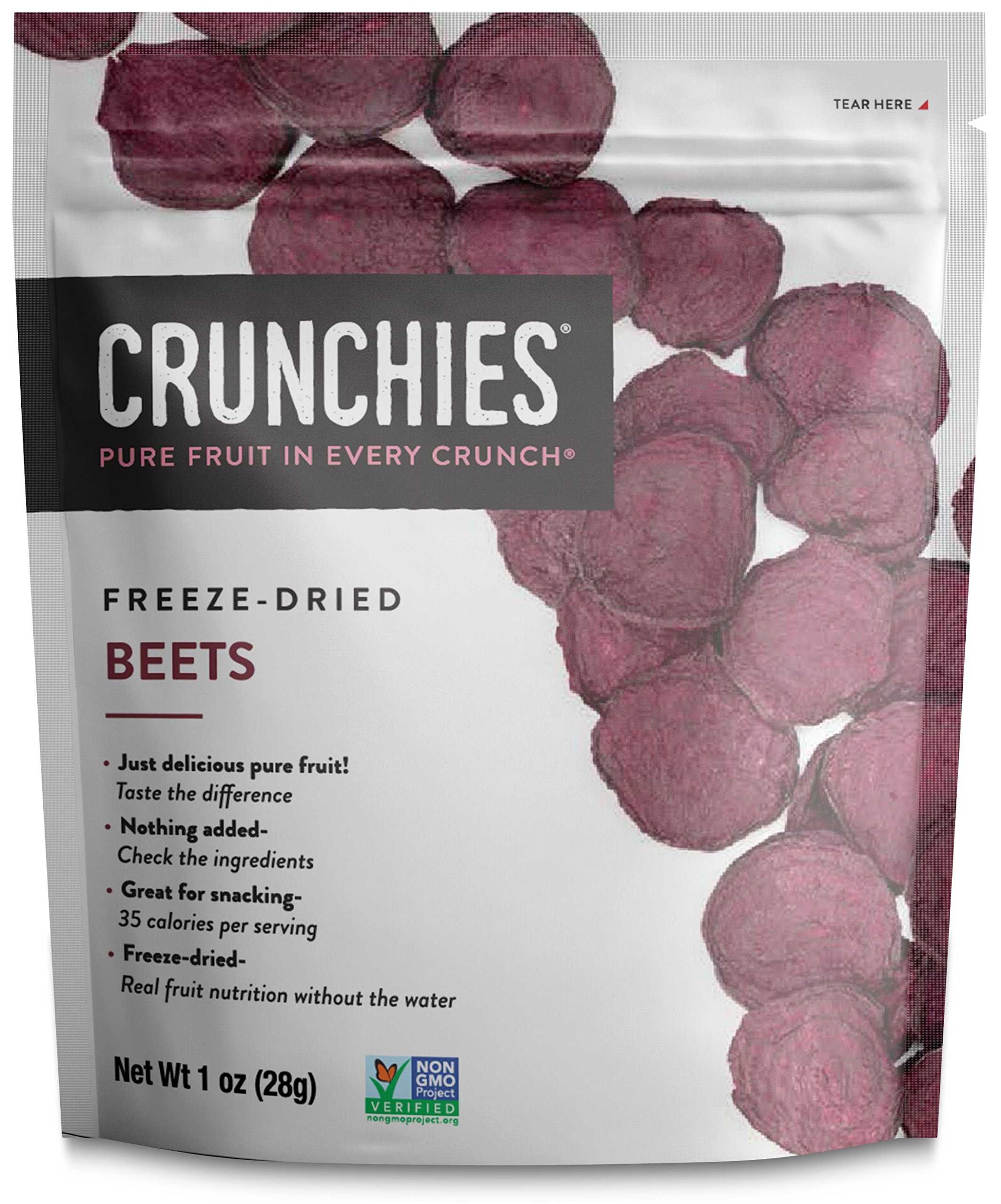 Crunchies Crispy 100% All Natural Freeze-Dried Fruits, 1 Ounce (6 Snack Packs) (Beets)