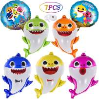 OPATER Baby Shark Balloons Birthday Party Supplies Foil Helium Balloon Shark Family Members Doo Doo Do Gifts for Boys Girls Kids Baby Shower Decorations