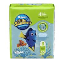 Huggies Little Swimmers Disposable Swim Diapers, Swimpants, Size 3 Small (16-26 lb.), 20 Ct. (Packaging May Vary) (Pack of 4)