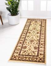 Unique Loom Voyage Collection Traditional Oriental Classic Cream Runner Rug (2' 2 x 6' 0)