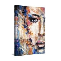 """Startonight Canvas Wall Art Abstract - Eva Woman Face, Sensual Lips Painting - Large Artwork Print for Living Room 32"""" x 48"""""""