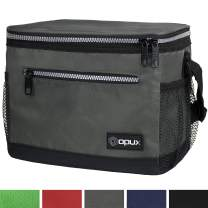 OPUX Premium Lunch Box, Insulated Lunch Bag for Men Women Adult | Durable School Lunch Pail for Boys, Girls, Kids | Soft Leakproof Medium Lunch Cooler Tote for Work Office | Fits 8 Cans (Grey)