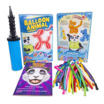 Balloon Animal University PRO Kit. Now with MORE creations! 50ct Custom Assortment with Qualatex balloons, Dbl-Action Air Pump, Book, and videos. Learn to Make Balloon Animals Kit Starter Set.