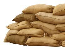 "Sandbaggy Burlap Sand Bag - Size: 14"" x 26"" - Sandbags 50lb Weight Capacity - Sandbags for Flooding - Sand Bag - Flood Water Barrier - Water Curb - Tent Sandbags - Store Bags (5 Bags)"