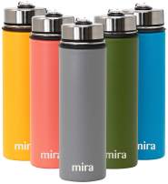 MIRA 22 Oz Stainless Steel Vacuum Insulated Wide Mouth Water Bottle - Thermos Keeps Cold for 24 hours, Hot for 12 hours - Double Wall Hydro Travel Flask - Smoke Gray