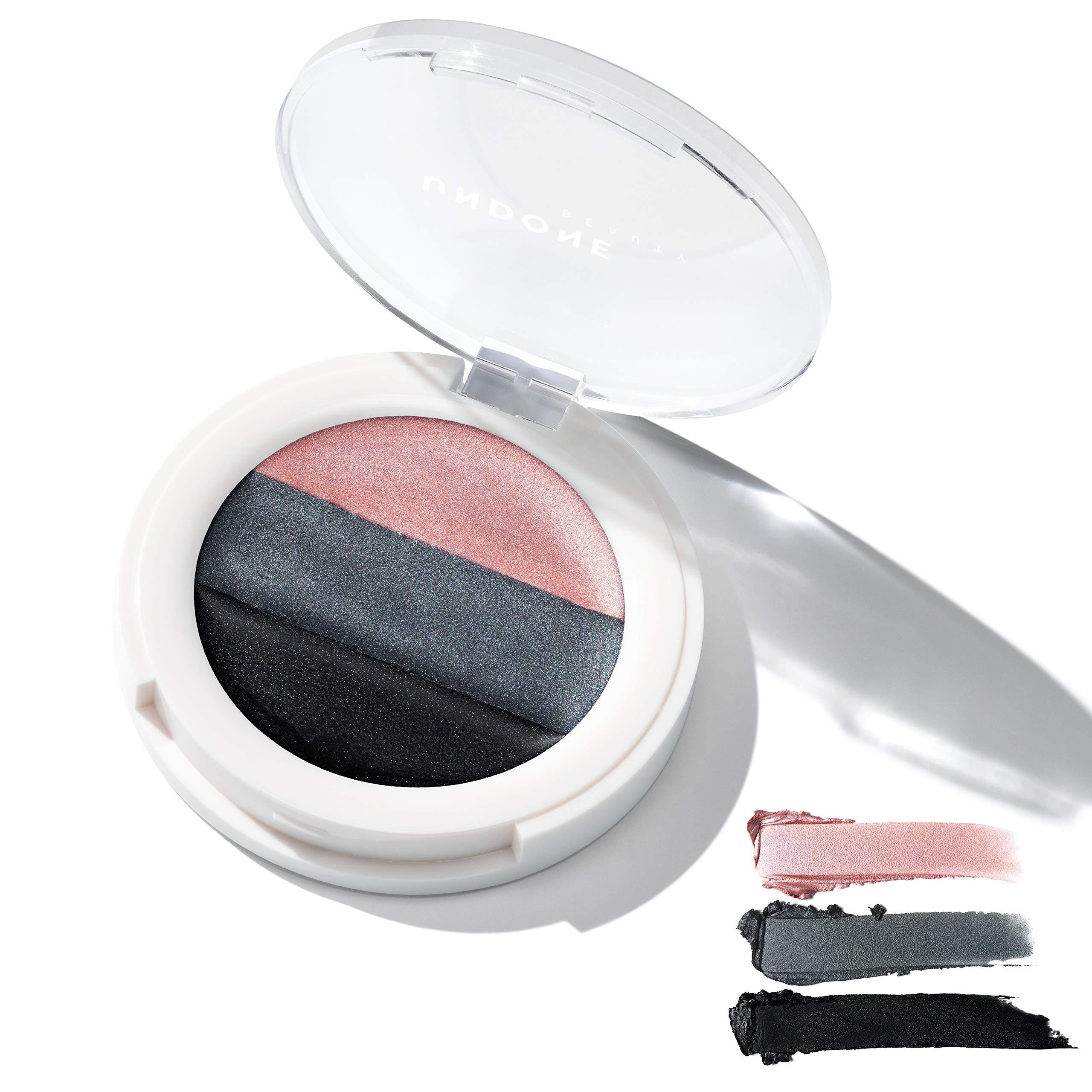 3-in-1 Cream Eye Palette. Highlighter/Primer, Eyeshadow & Liner. Castor Oil for Nourishing – UNDONE BEAUTY 3-in-1 Eye Palette. Long wear base, High Pigment Shadow & Liner. Smokey Eye. DOVETAIL