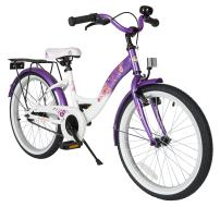 BIKESTAR Safety Sport Kids Bike Bicycle with sidestand for Age 6 Year Old Children | 20 Inch Classic Edition for Girls |