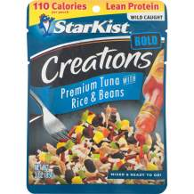 StarKist Tuna Creations BOLD, Rice & Beans in Hot Sauce - 3 oz Pouch (Pack of 24) (Packaging May Vary)