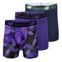 """New Balance Men's Ultra Soft Performance 6"""" Boxer Briefs with No Fly (3-Pack of Underwear)"""
