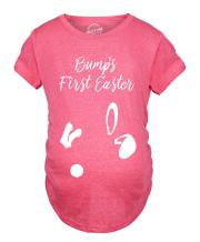 Crazy Dog T-Shirts Maternity Bumps First Easter T Shirt Cute Announcement Pregnancy Spring Shower