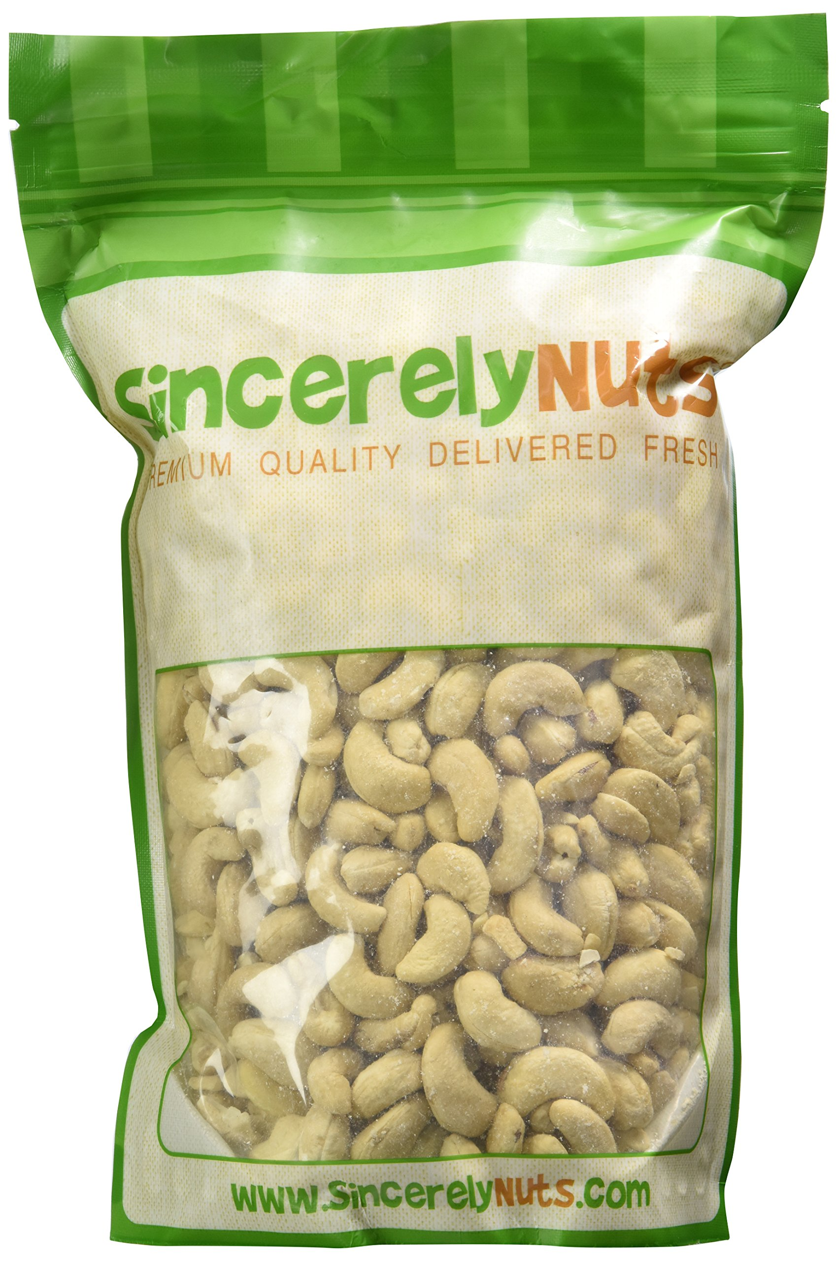 Sincerely Nuts – Whole Organic Raw Cashews | Two Lb. Bag | Deluxe Kosher Snack Food | Healthy Source of Protein, Vitamin & Mineral Nutritional Content | Gourmet Quality Vegan Cashew Nut