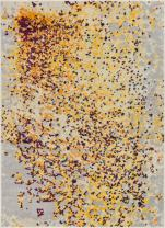 """Harput Pixie Abstract Yellow & Beige Vibrant Modern Geometric Dots 8x11 (7'10"""" x 10'6"""") Area Rug Watercolor Brush Stroke Pattern Contemporary Thick Soft Plush"""