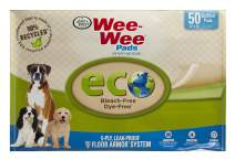 "Four Paws Wee-Wee Puppy Training Pee Pads 22"" x 23"" Standard Size Eco-Friendly Pads"