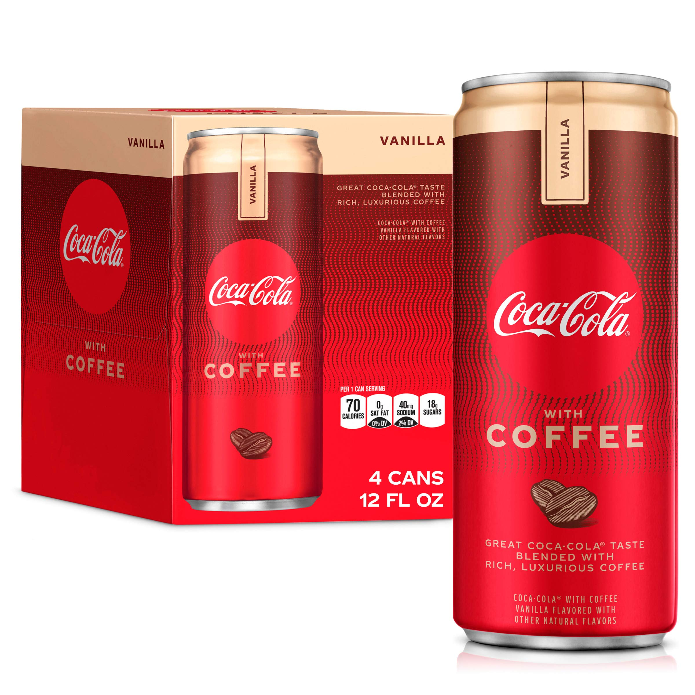 Coca-Cola With Coffee Vanilla, 12 Fl Oz (Pack Of 4)