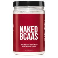 Naked BCAAs Amino Acids Powder - 100 Servings - Vegan Unflavored Branched Chain Amino Acids 500 Grams   100% Pure 2:1:1 Formula - Instantized All Natural BCAA Powder Supplement to Increase Gains