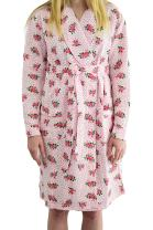 Women's Lovely Floral Printed Bathrobe Robe by EZI