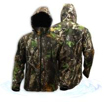 KwikSafety Huntsman Camouflage Hunting Jacket | Water Resistant Quick Dry Long Sleeve Soft Shell Hoodie | Men Women Fishing Shooting Camo Gear | Large