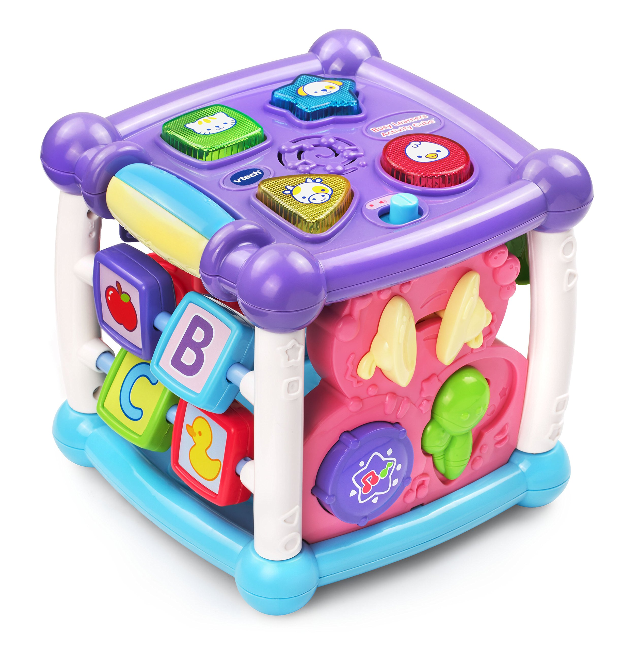 VTech Busy Learners Activity Cube, Purple, Great Gift for Kids, Toddlers, Toy for Boys and Girls, Ages Infant, 1, 2, 3