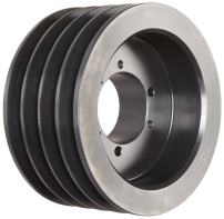 """Martin 4 B 66 SD Conventional QD Sheave, A/B Belt Section, 4 Grooves, SD Bushing required, Class 30 Gray Cast Iron, 6.95"""" OD, 3570 max rpm, A - 6.2/B - 6.6"""" Pitch Diameter"""