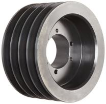 """Martin 4 B 38 SD Conventional QD Sheave, A/B Belt Section, 4 Grooves, SD Bushing required, Class 30 Gray Cast Iron, 4.15"""" OD, 5978 max rpm, A - 3.4/B - 3.8"""" Pitch Diameter"""