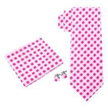 Twenty Dollar Tie Men's Endurance Check Tie Pocket Square Cuff-links Set