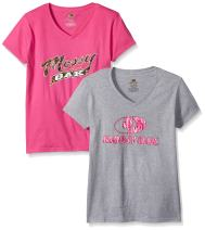 Mossy Oak Women's V-Neck Short Sleeve Graphic T-Shirts (2 Pack)