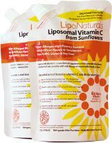 Lipo Naturals Liposomal Vitamin C (2-Pack)   60 Doses (30 Ounces)   China-Free   No Artificial Preservatives   No Soy   Non-GMO   Made in U.S.A   Maximum Encapsulated Vitamin C   Real Results