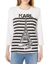 Karl Lagerfeld Paris Women's ¾ Sleeve Shirt