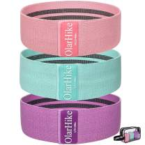 OlarHike Booty Bands for Working Out, 3 Fabric Resistance Bands Set for Legs and Butt, Non-Slip Workout Exercise Bands with Portable Carrying Bag, Glute Band for Women Fitness