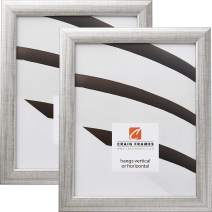 Craig Frames 23247944 18 x 24 Inch Picture Frame, Scratched Silver, Set of 2