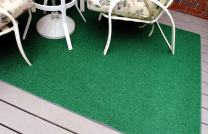 Garland Rug 6' x 9' Artificial Grass Indoor/Outdoor Area Rug, Rectangle, Green