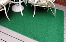 Garland Rug 8' x 12' Artificial Grass Indoor/Outdoor Area Rug, Rectangle, Green