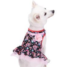 Blueberry Pet 10+ Patterns Soft & Comfy Spring Scent Inspired Floral/Camo Print Dog Harness Vests, Harness Dresses