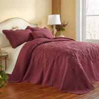 BrylaneHome Amelia Bedspread - Full, Merlot