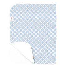 Kushies Deluxe Waterproof Changing Pad Liners - 20 x 30 inches Baby Changing Table Pad Covers - Baby Changing Pads in Blue Lattice - Diaper Changing Pad Cover Waterproof for Changing Station